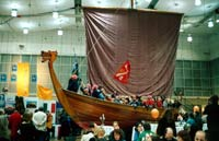 13th Reisepavillon - THE Marketplace for Alternative Travel - Hannover, Germany, 31 January - 2 February 2003. (Image is the Wik Thor viking ship).