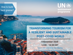 EVENT SUMMARY: Transforming Tourism for a resilient and sustainable post COVID world